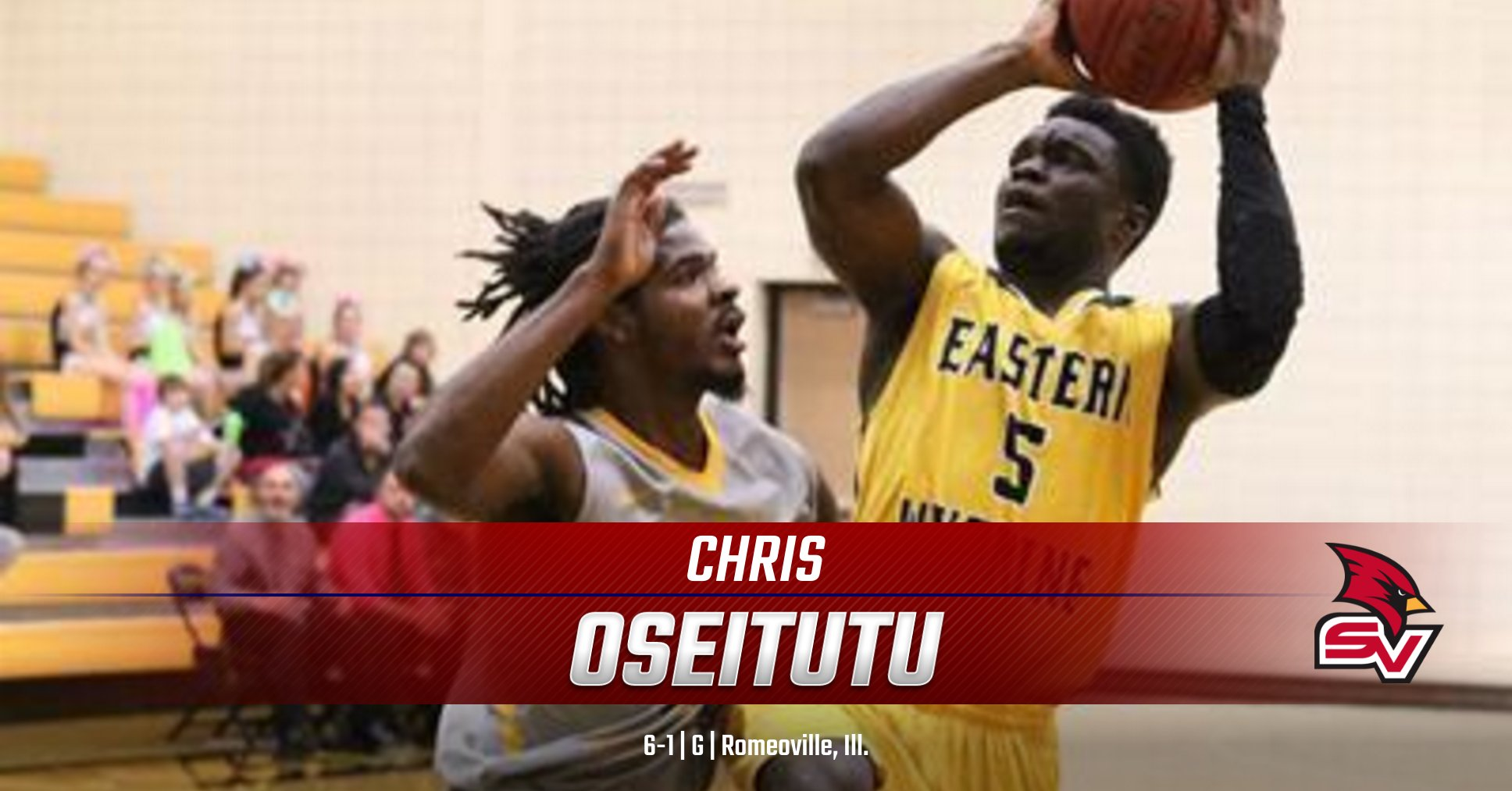 Cardinal Men announce the addition of Chris Oseitutu