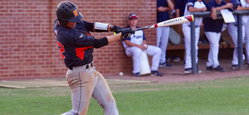 John Topoleski recorded five hits on the day including the 200th of his career on this swing at Wingate (photo by Chris Lenker)