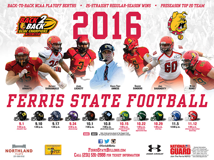 2016 Ferris State Football Yearbook