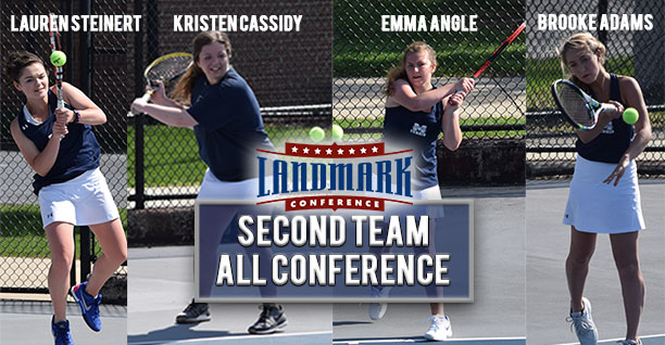 Lauren Steinert '20, Kristen Cassidy '21, Emma Angle '21 and Brooke Adams' '21 are named to the Landmark Women's Tennis All-Conference Second Team.