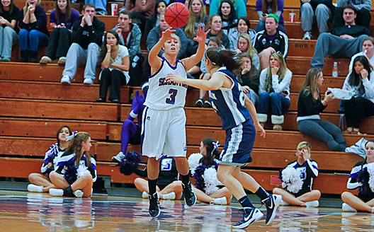 Freshman guard Lindsay Fluehr had 13 points, seven rebounds and seven assists off the bench as Scranton finished the regular season with a 72-59 win over Moravian on Saturday.