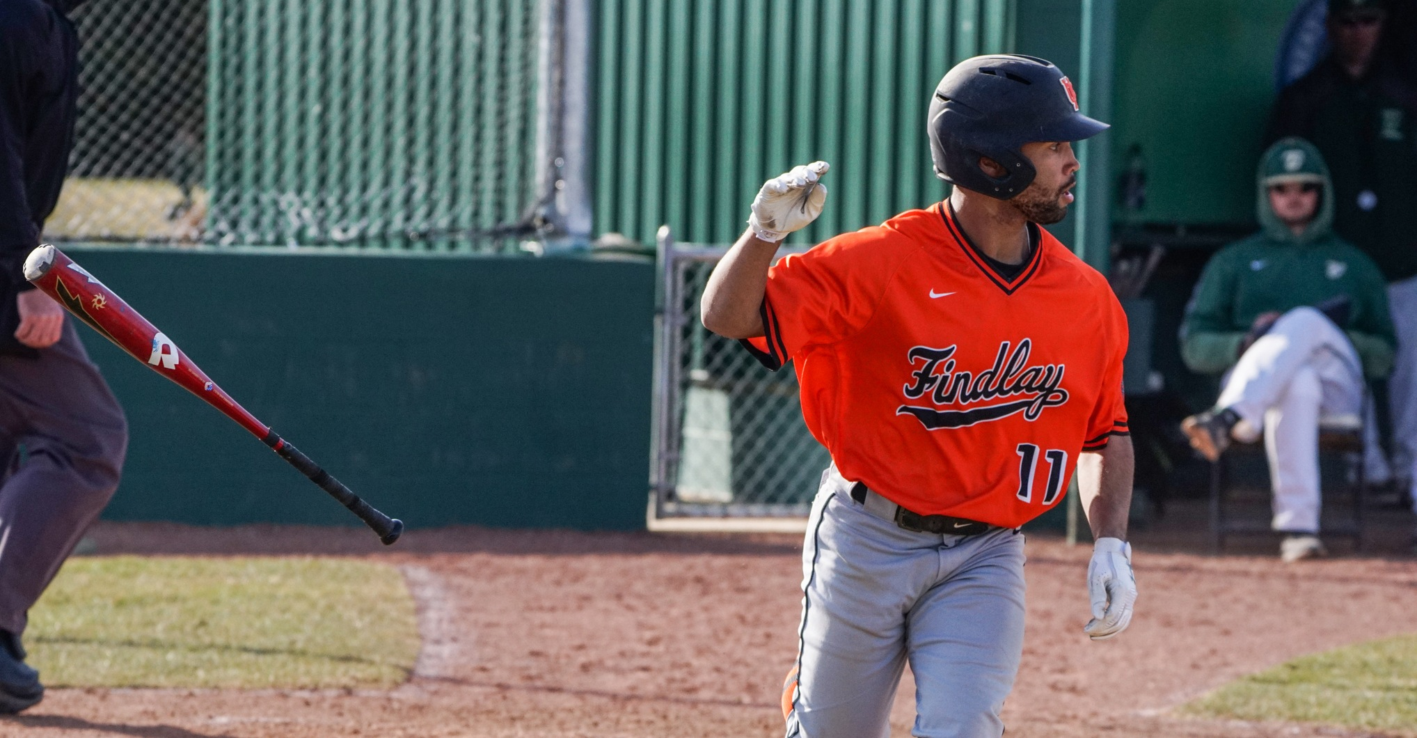 Findlay Splits at Tiffin Behind Foulks' Homeruns