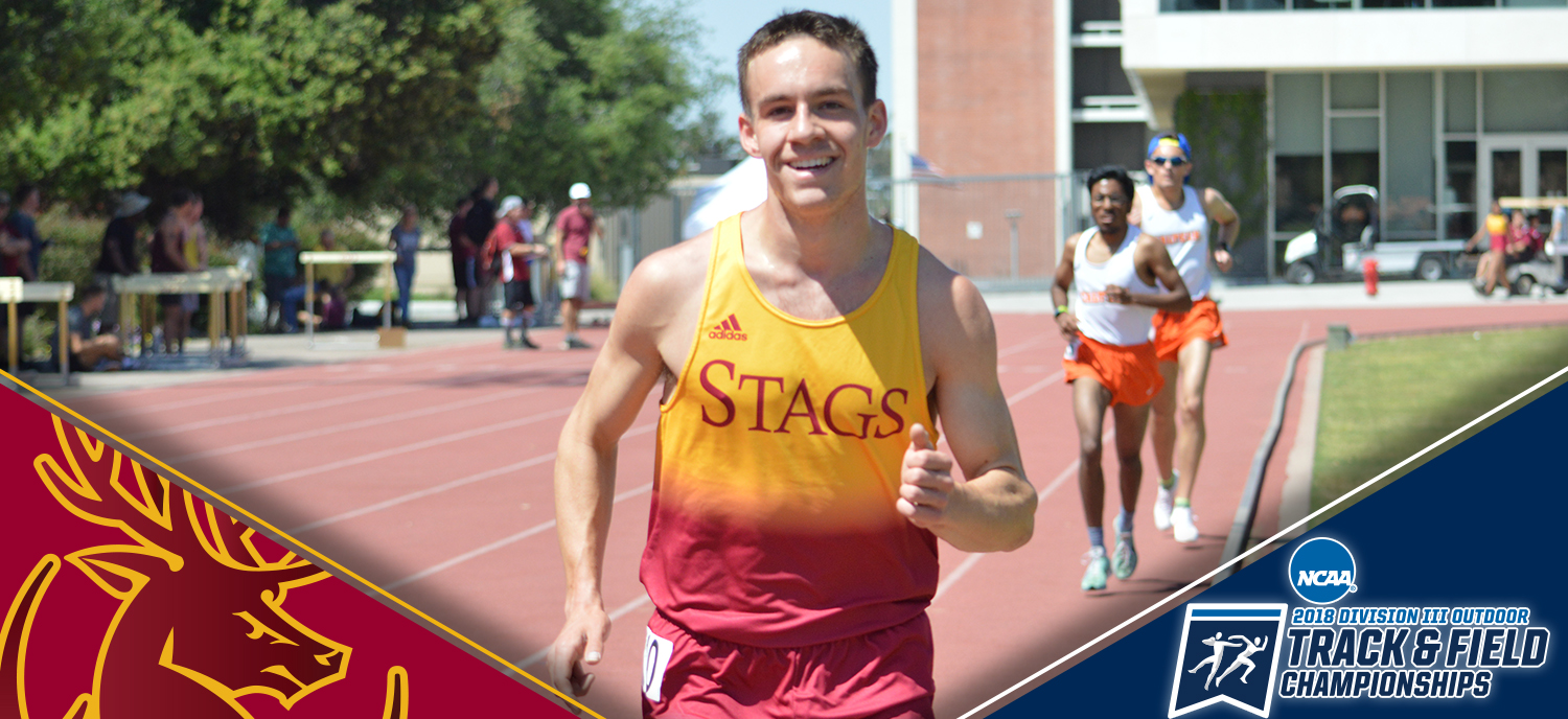 Thomas D'Anieri (CMC) will run in the 3000 meter steeplechase for the Stags. (photo credit: Hannah Graves)