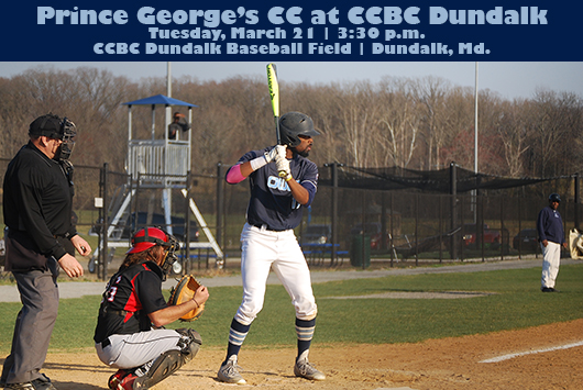 Prince George's Baseball Returns To The Diamond At CCBC Dundalk On Tuesday