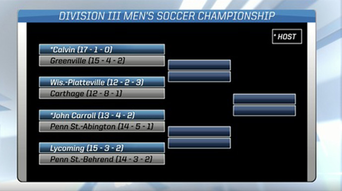 Greenville To Face Calvin in Men's Soccer Opening Round