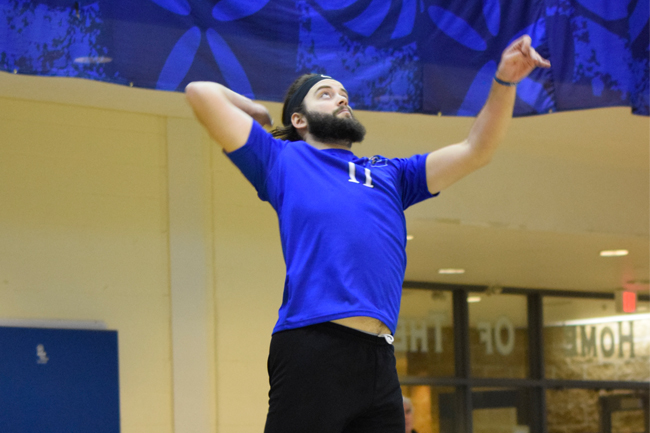 Men's volleyball sets school record for wins