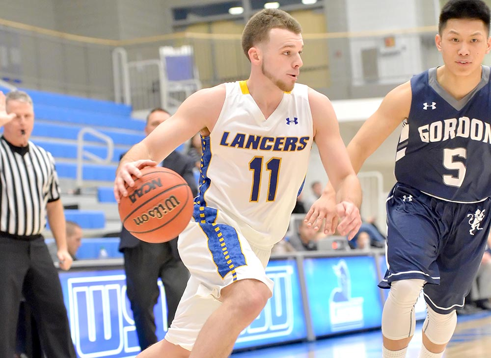 Men's Basketball Triumphs Over Framingham State on Senior Night