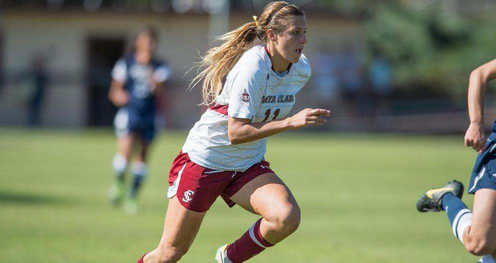 UPDATED: Women's Soccer Remains Perfect in WCC Play with 2-0 Win at Pacific