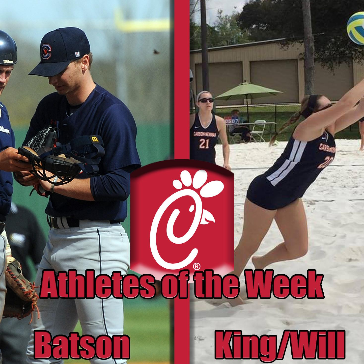 Batson, Beach Volleyball duo bring in Chick-Fil-A Athlete of the Week honors