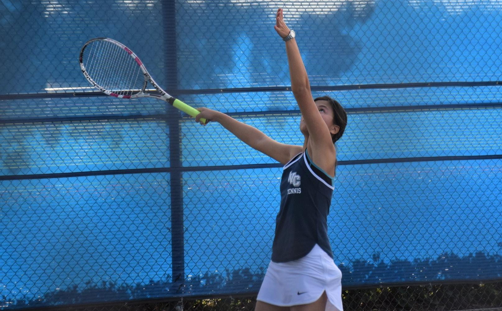 Women's tennis team can't stay with strong OCC squad