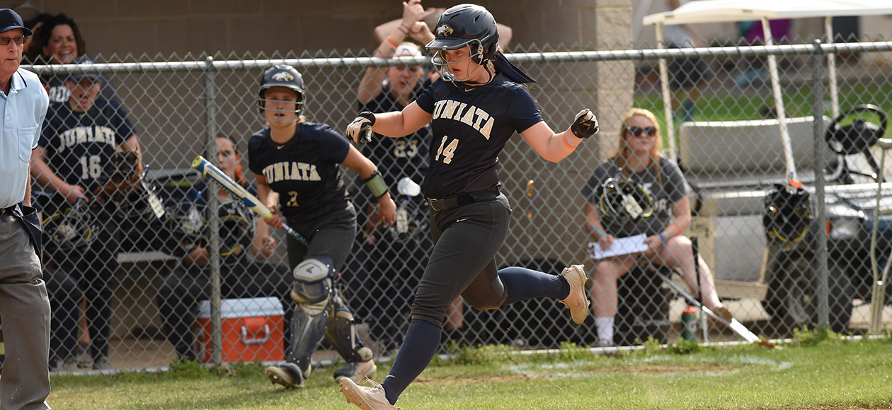 Abby Ebright's solo homer in the second inning gave Juniata a 1-0 lead.