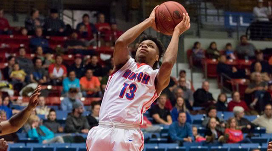 Rob Whitfield and the No. 14 Blue Dragons meet the Cowley Tigers at 7:30 p.m. on Saturday at the Sports Arena. (Allie Schweizer/Blue Dragon Sports Information)