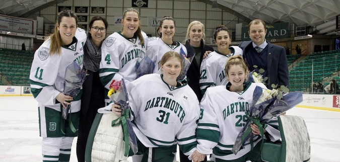 On Senior Day, Dartmouth ties St. Lawrence