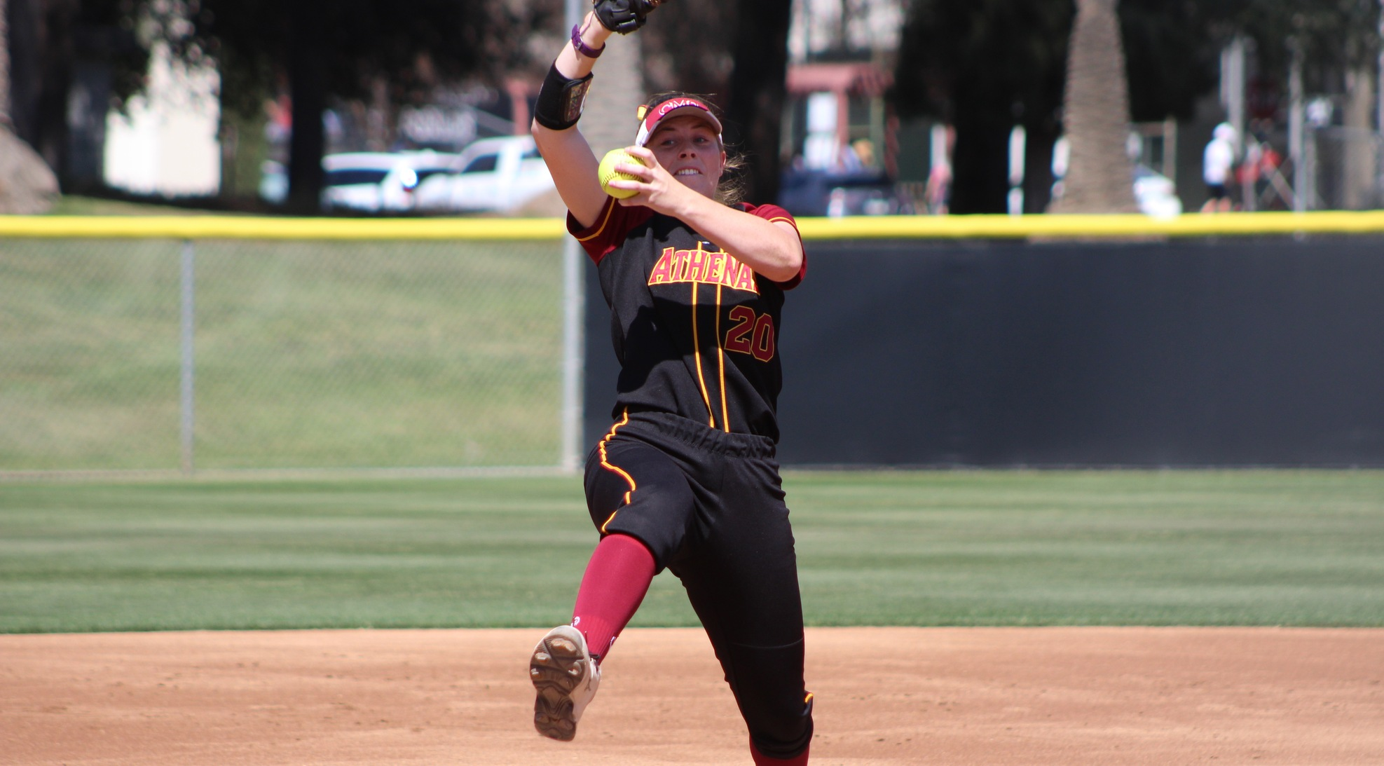 Anna Gurr (CMC) tossed a complete-game shutout in Game One. (photo credit: Alisha Alexander)
