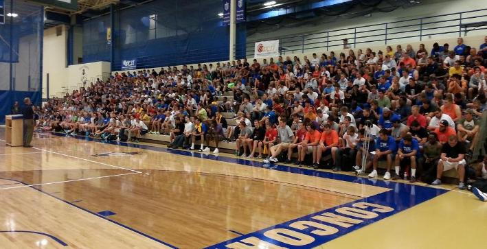 Athletic Department Administration speaks with student-athletes