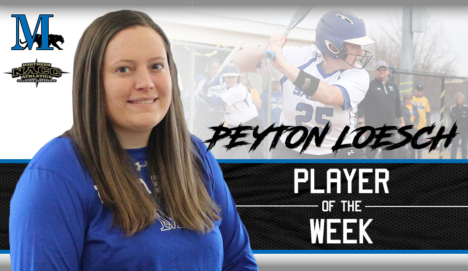 Peyton Loesch player of the week graphic.