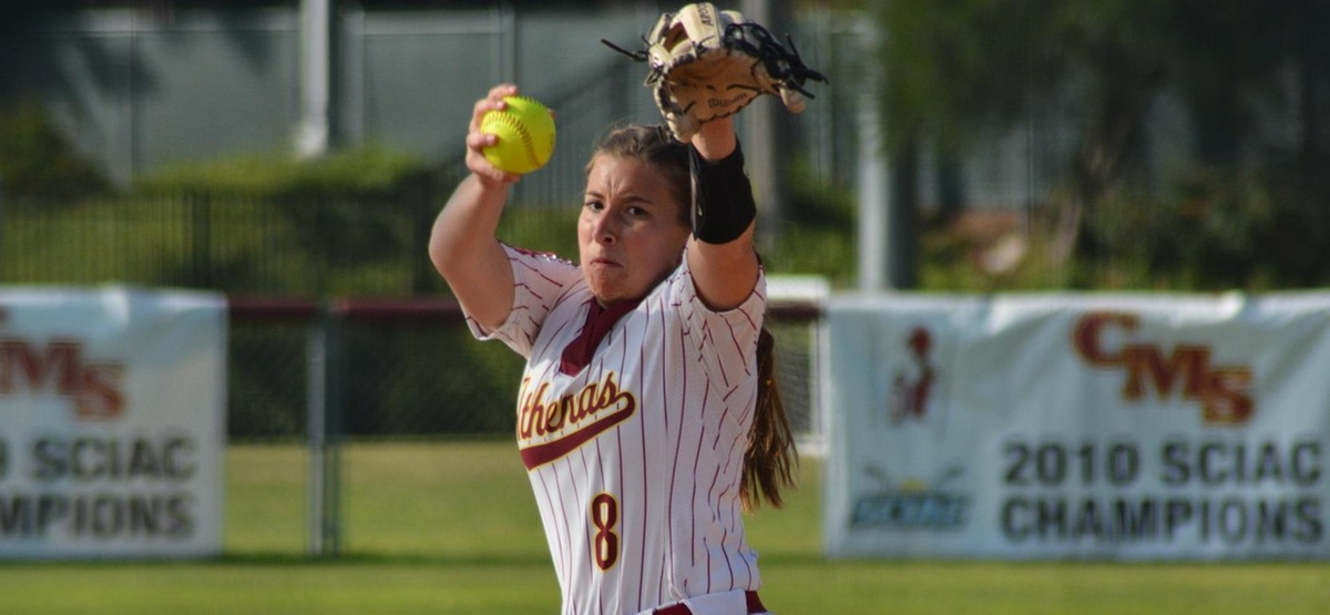 Lauren Richards threw a four-hitter to improve to 18-1 in her career in SCIAC games