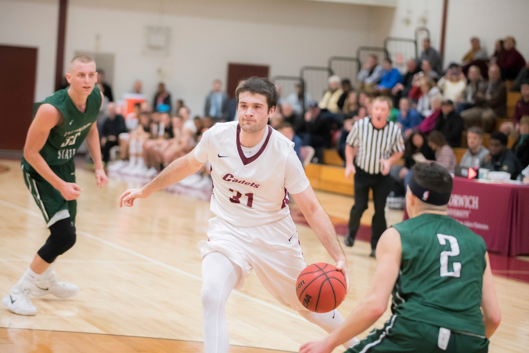 Men's Basketball: Suffolk runs away with 74-59 victory over Cadets