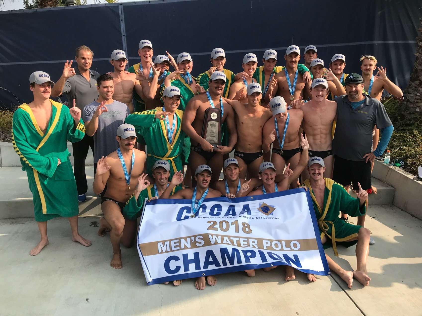 Golden West Men's Water Polo Crowned 2018 State Champions