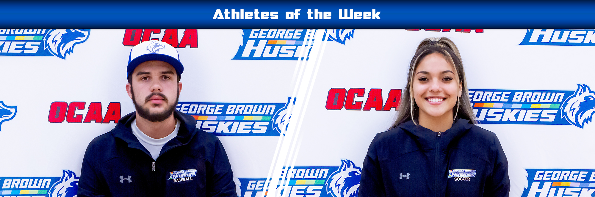 Athletes of the week David DeCassan Men's Baseball and Tatyana Lopez Women's Soccer