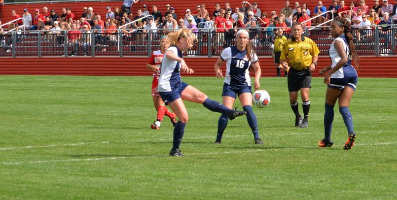 Mallory Hestwood connected for the first goal of the match against the Bulldogs...