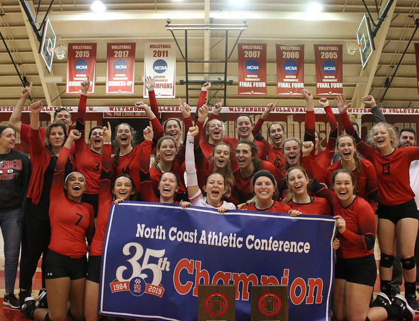 No. 3 Wittenberg Volleyball Captures NCAC Crown