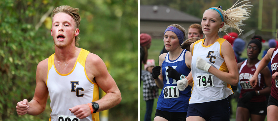 Clayton Brumfield (left) and Rachel Bowden topped the Franklin leaderboards on Saturday afternoon