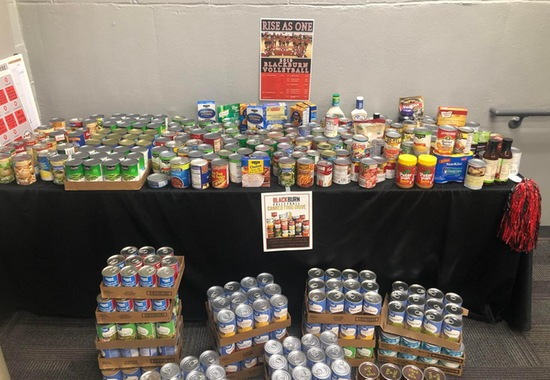 Blackburn Volleyball Conducts Canned Goods Drive