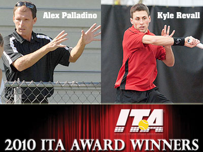 Head Coach Alex Palladino and senior Kyle Revall both received ITA regional postseason awards (FSU Photo Services)