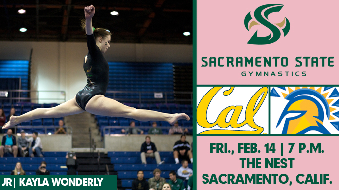 GYMNASTICS WELCOMES SJSU AND CAL FOR VALENTINE'S DAY MEET
