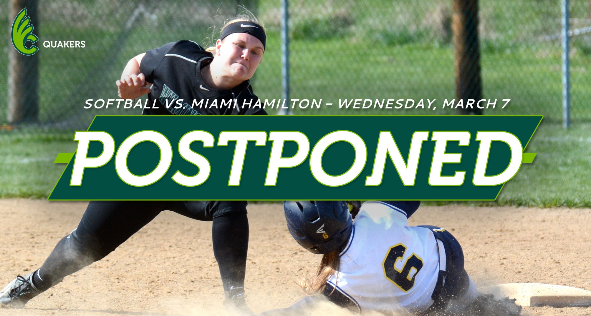 Softball Doubleheader With Miami Hamilton Postponed