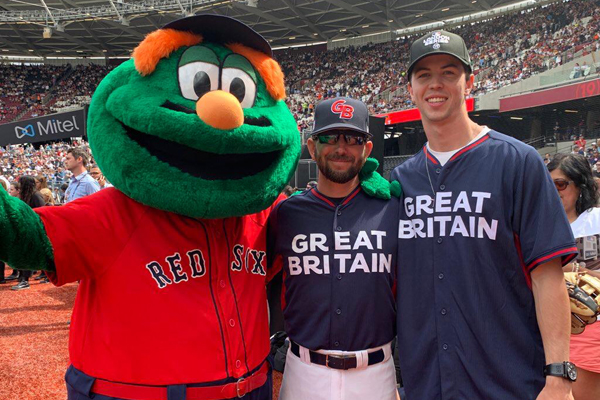 NMJC outfielder throws at first pitch in MLB series in London