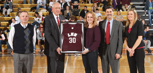 Lee University retires Golden Eagles DOBO Brooke McKinnon-Evans' Jersey