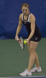 Kara Sherwood won the 50th singles match of her career Saturday.