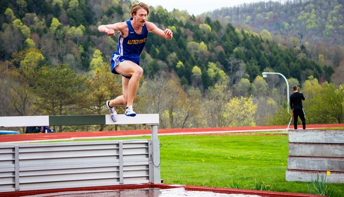 Eric Hulbert competes in the steeplechase
