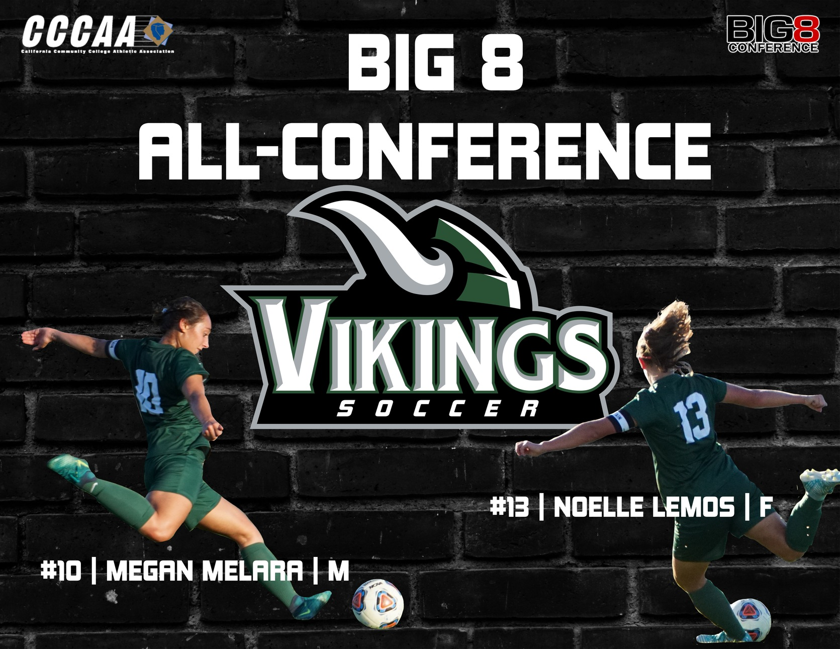 Lemos & Melara named to Big 8 All-Conference Team