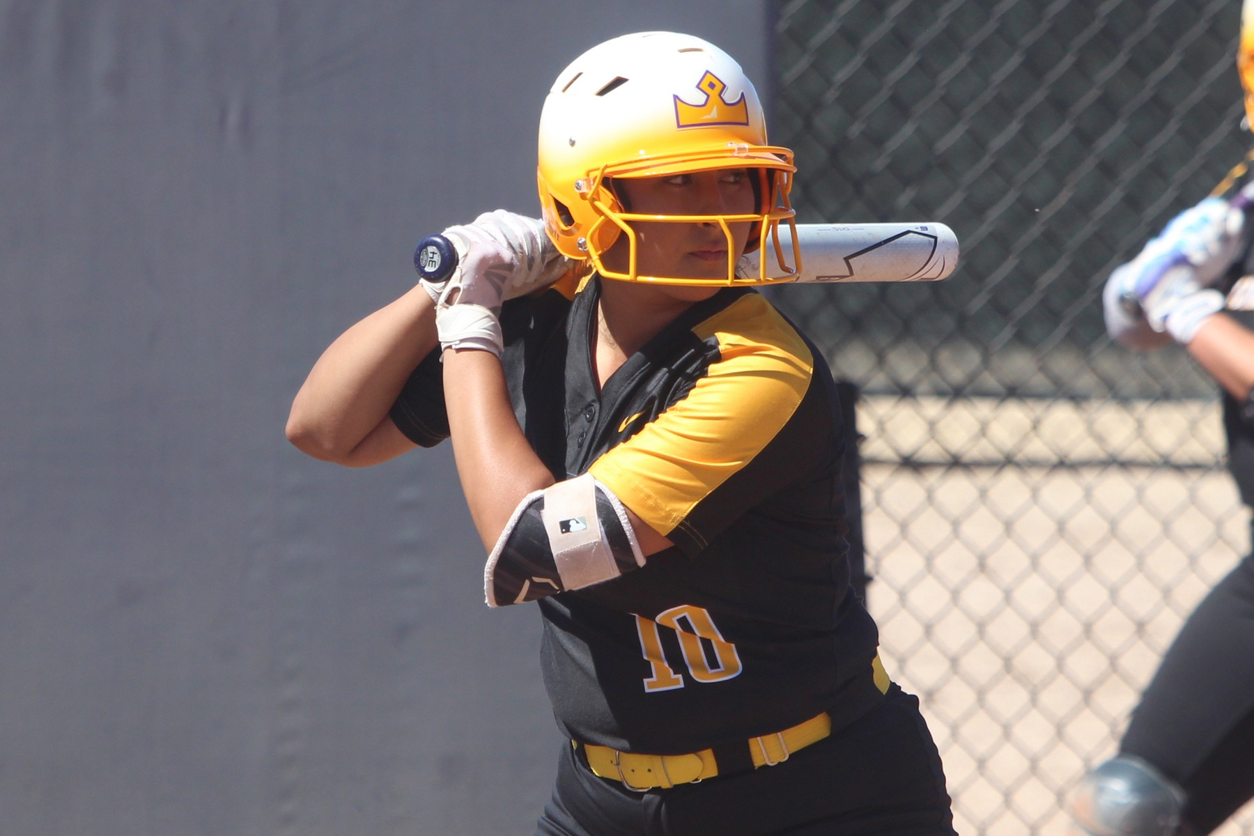 Celeste Ekman recorded 2 RBI during the first game of a doubleheader with La Verne.