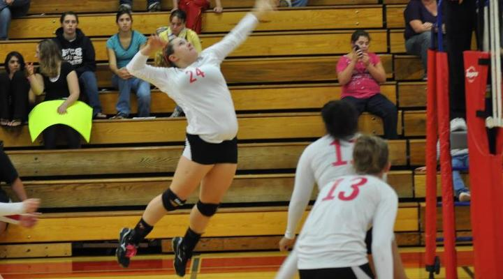 Volleyball Tops Regis 3-2, Logs First Victory of Season