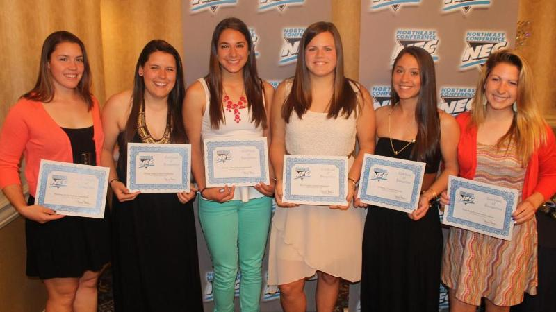 Six Blue Devils Earn All-NEC