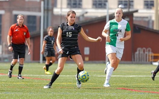 Junior midfielder Ellen Walker had a goal and an assist as women's soccer defeated Drew, 4-2, on Saturday afternoon in Madison, N.J.