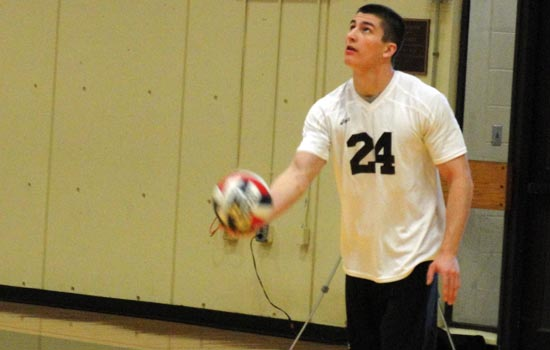 Men's Volleyball Notches First Win