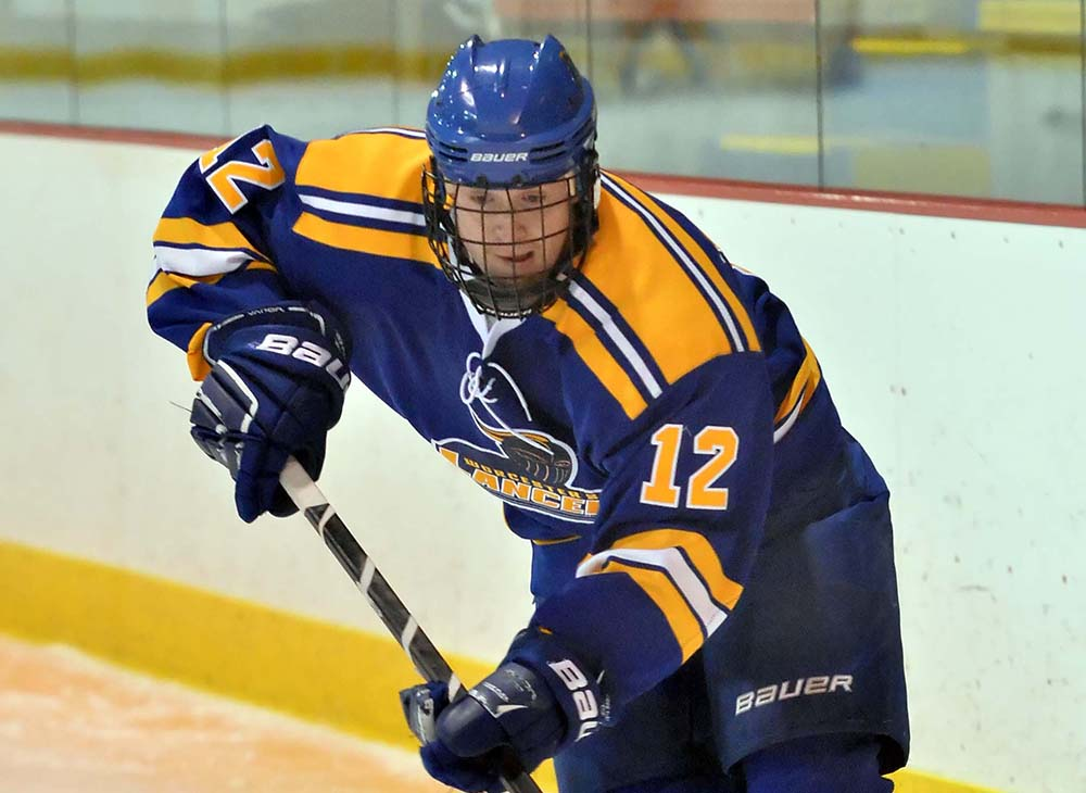Men's Ice Hockey Defeats Stonehill in Semester Finale; Lancers Improve to 10-1
