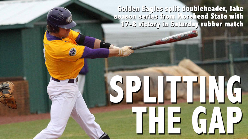 Golden Eagles split doubleheader, claim OVC series from Morehead State
