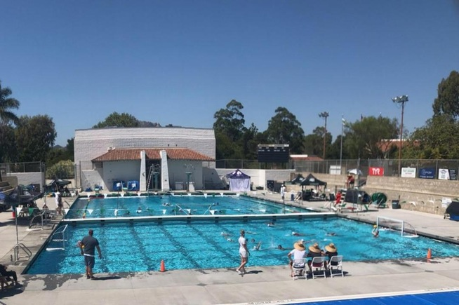 Women's water polo played at Cuesta Tournament