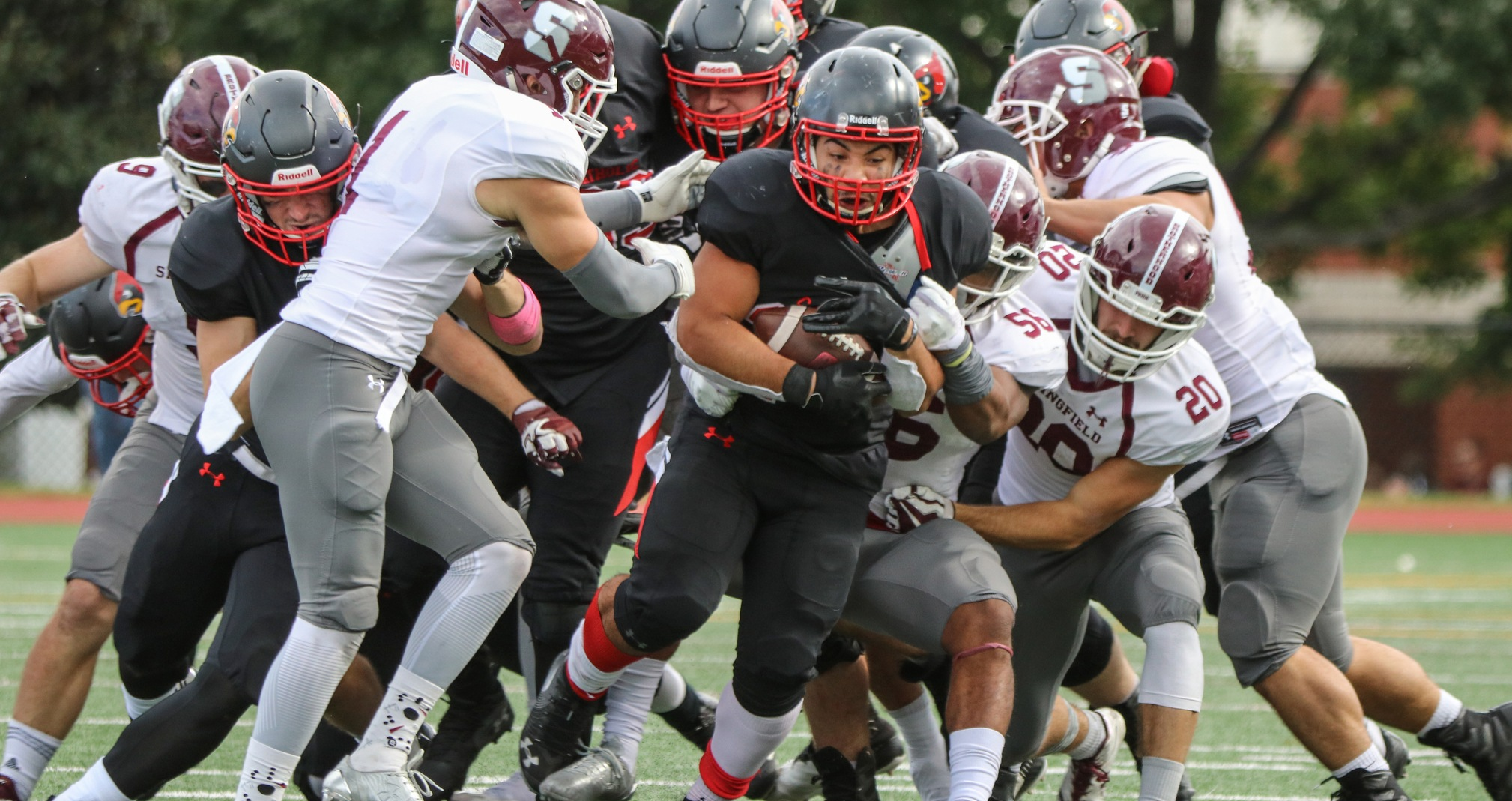 Second Quarter Carries Pride Past Football on Cardinal Weekend