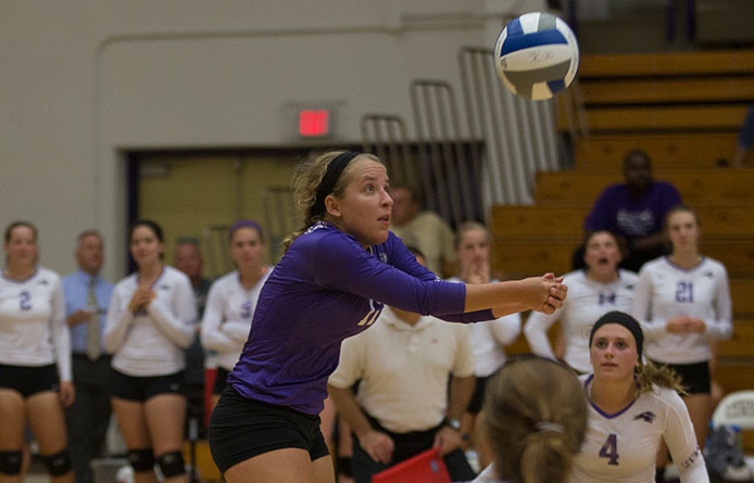 Purple Knights win Union Invitational, Moore named MVP while reaching 1,000-dig milestone