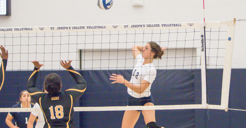 Women's Volleyball Moves Over .500 Mark Outlasting Lehman in Five Sets at Home