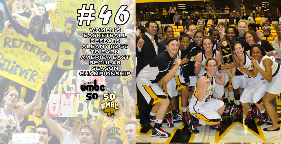 #retriever50for50 - 2010-11 Women's Basketball Team Lifts AE Trophy at the RAC