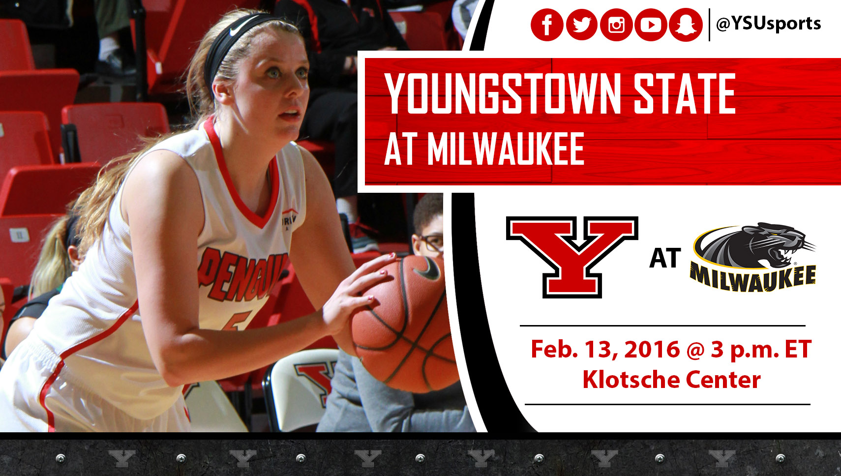 Jill Blacksten and the Penguins will try to earn a split on its Wisconsin trip when it plays at Milwaukee on Saturday.