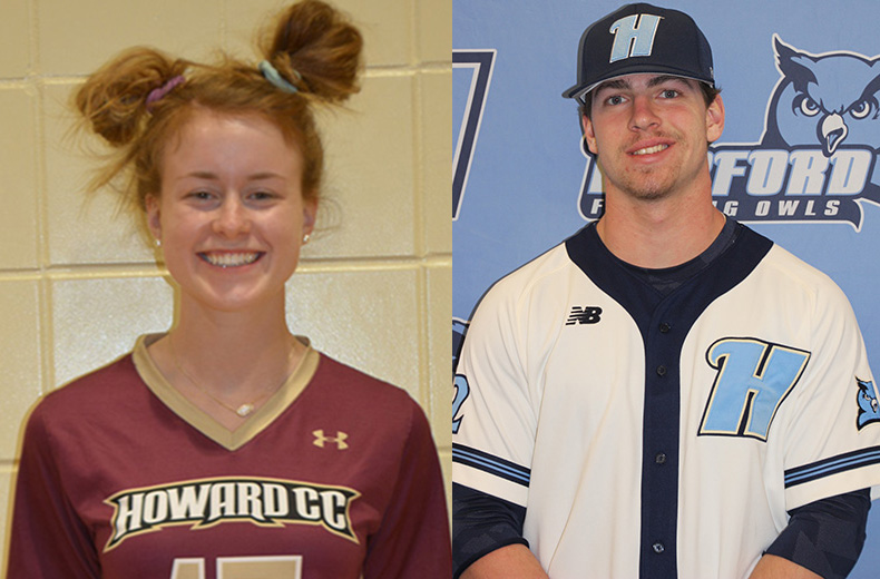 Maryland JUCO Names Delaney, Johnson March Student Athletes of the Month